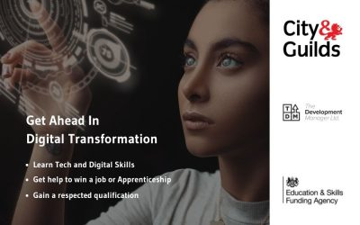Fully funded Tech & Digital Training Programme for Three Counties 19 – 23s to achieve C&G Level 3 Diploma and support into new roles